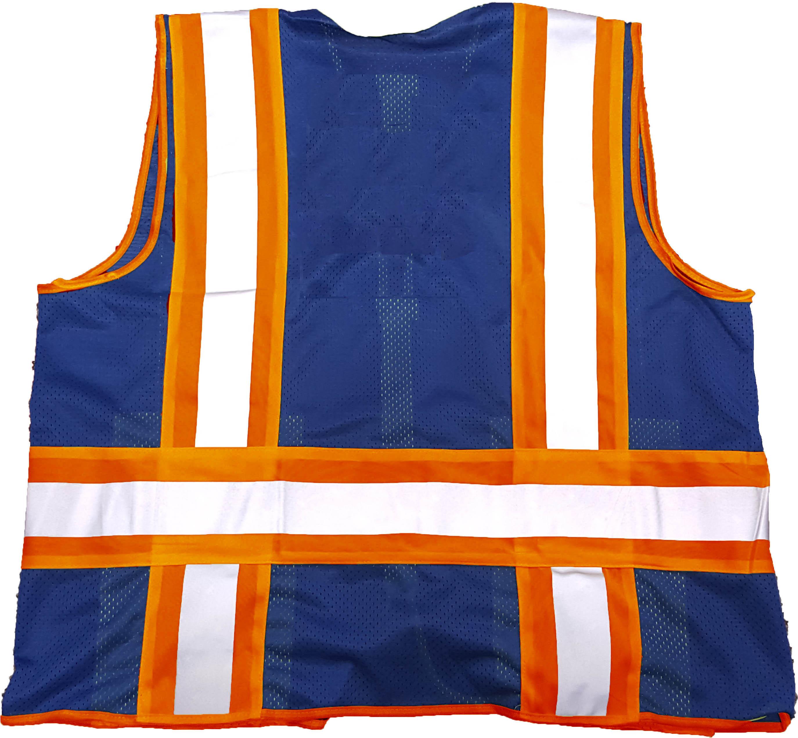 Royal Blue Mesh Orange/Silver